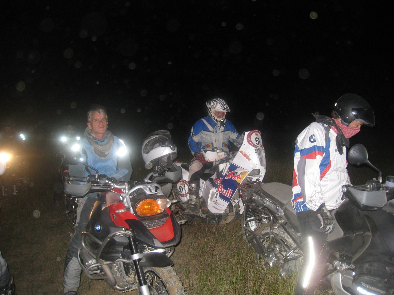 Night riding on sand and dunes... awesome fun