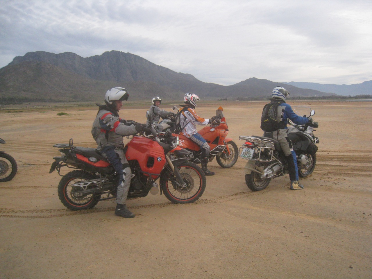 Course involved drifting, racing on sand, sliding,  riding slowly in deep sand , jumping, and climbing and descending dunes.