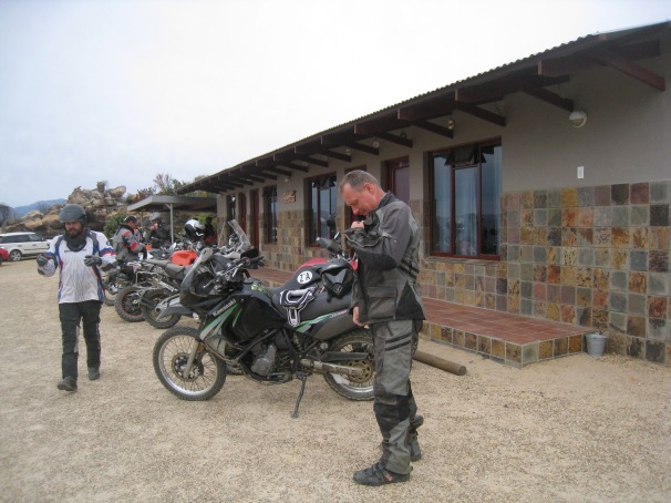 Me riding the KLR which is actually a great adventure bike with good tyres like Metzler Karoos