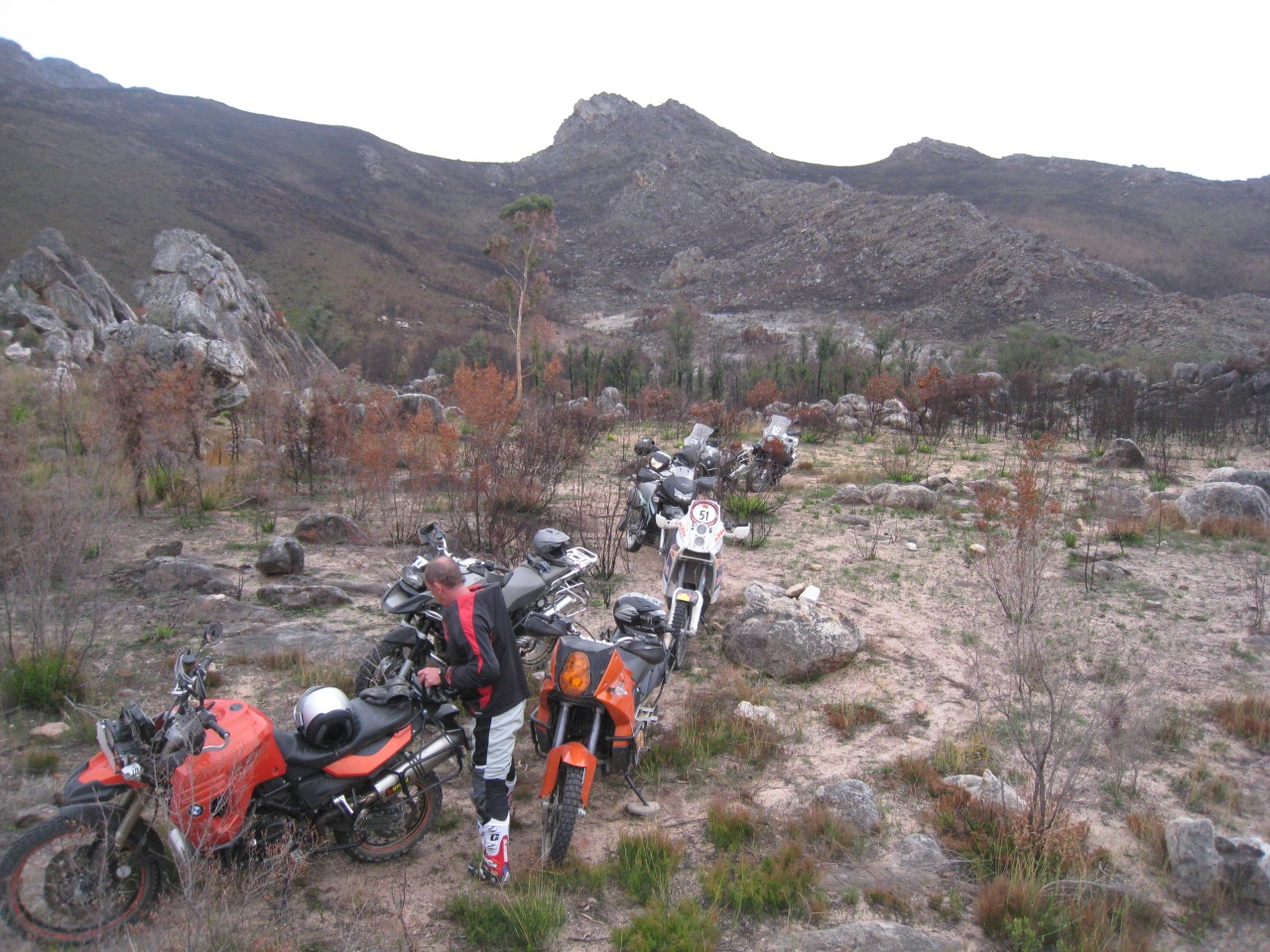 Doing some off road trail riding to hone skills