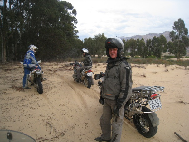 Sand is about confidence... A big heavy bike is not ideal, but once you get the hang of it, its great fun and will inspire confidence for any surface on a RTW adventure