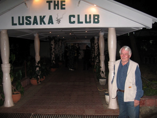 Uncle Mick in Lusaka outside the local club