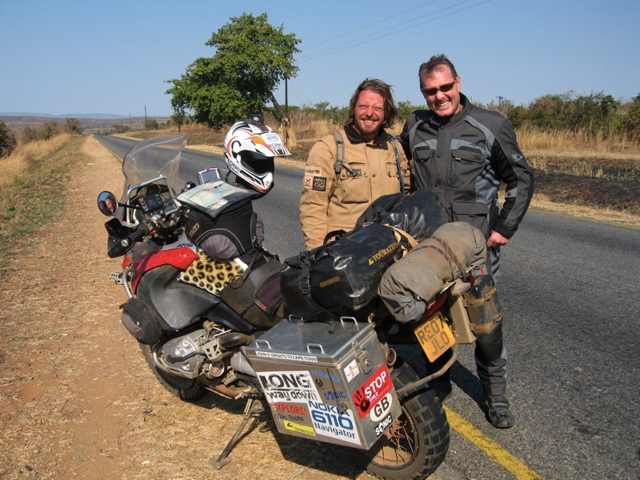 BMW meets KTM on the road from Lusaka to Chipata (2007)