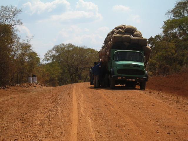 Cotton lorry in Zambia
