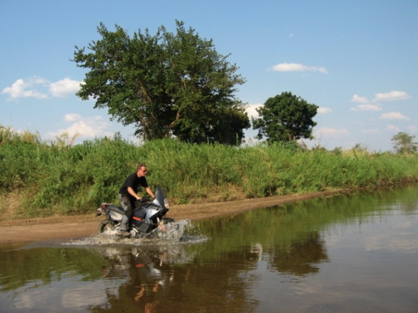 Crossing river