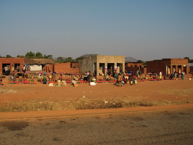 A Zambian town we passed through.