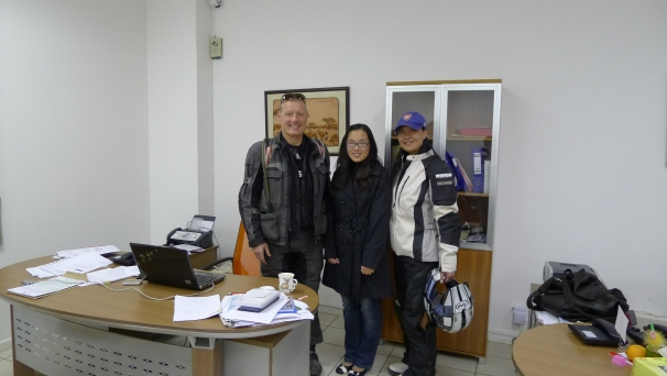 Visiting the China-Namibia tourist office in Windhoek