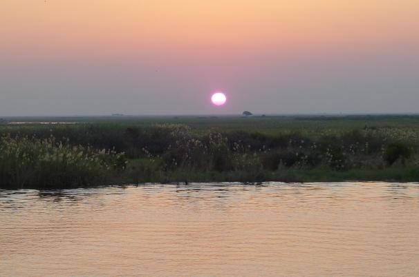 Zambia on the other side of the Zambezi River