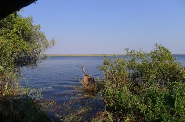 Zambezi River ... Zambia on other side