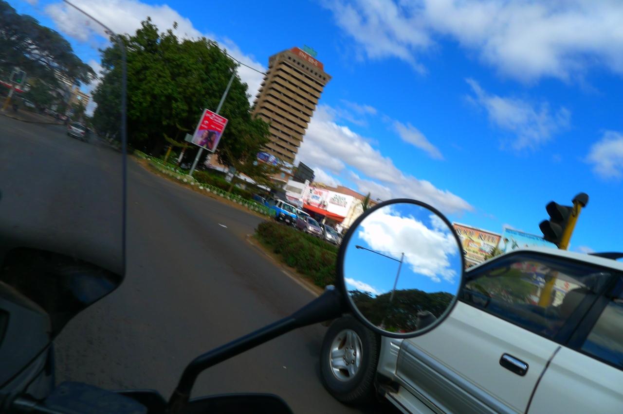 Riding through Lusaka