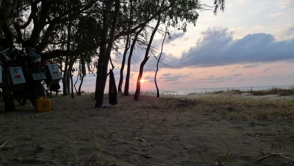 Beautiful deserted beaches along the shoreline of the lake