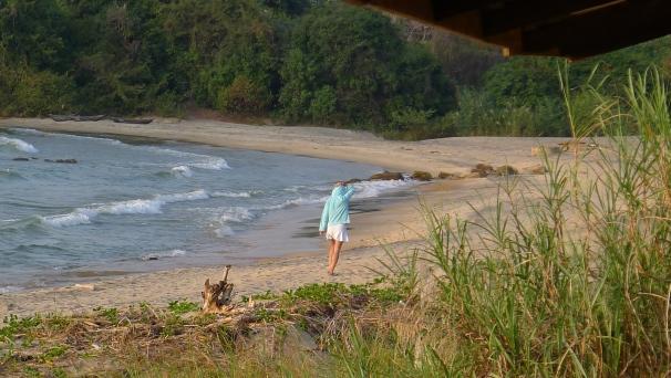 Hiking along the beautiful shores