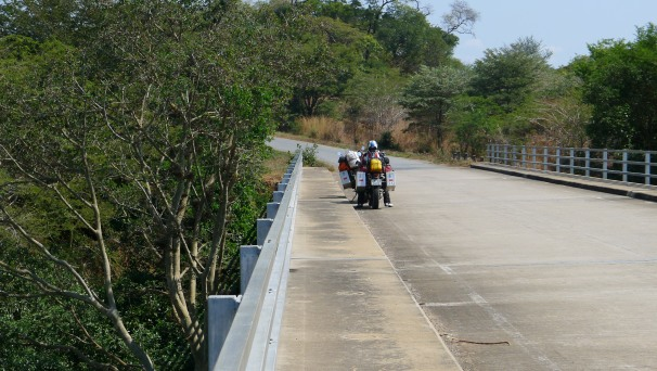 A very typical bit of road in Malawi as we worked our way north along the shores on Lake Nyasa