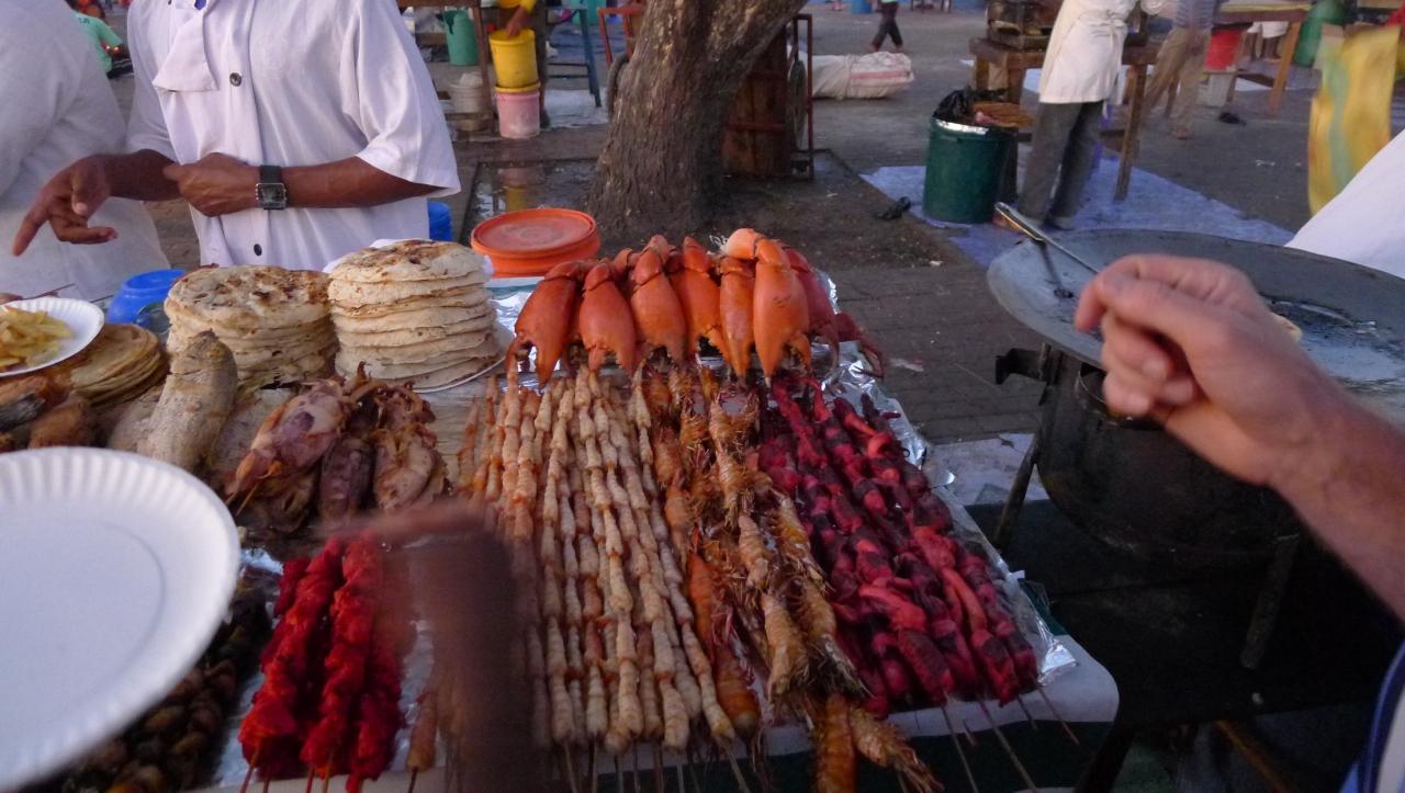 Lots of market stalls