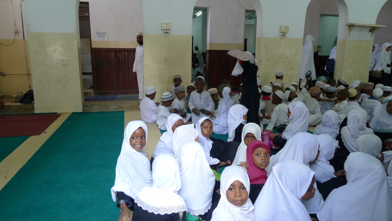 Local children in their classroom
