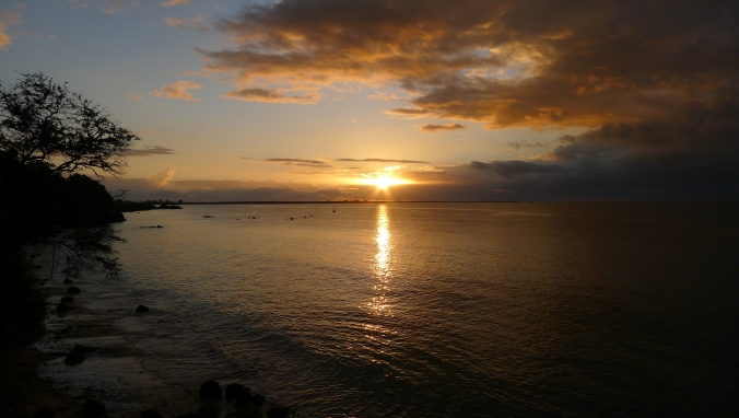 The rising sun over the Indian Ocean
