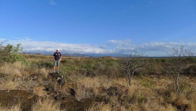 We went on lots of long walks ... and I did some running in the baboon and leopard hills