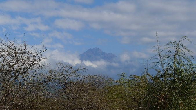 Mount Kilimanjaro ever present where ever you went