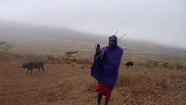 Masaai herdsman in .... Serengeti