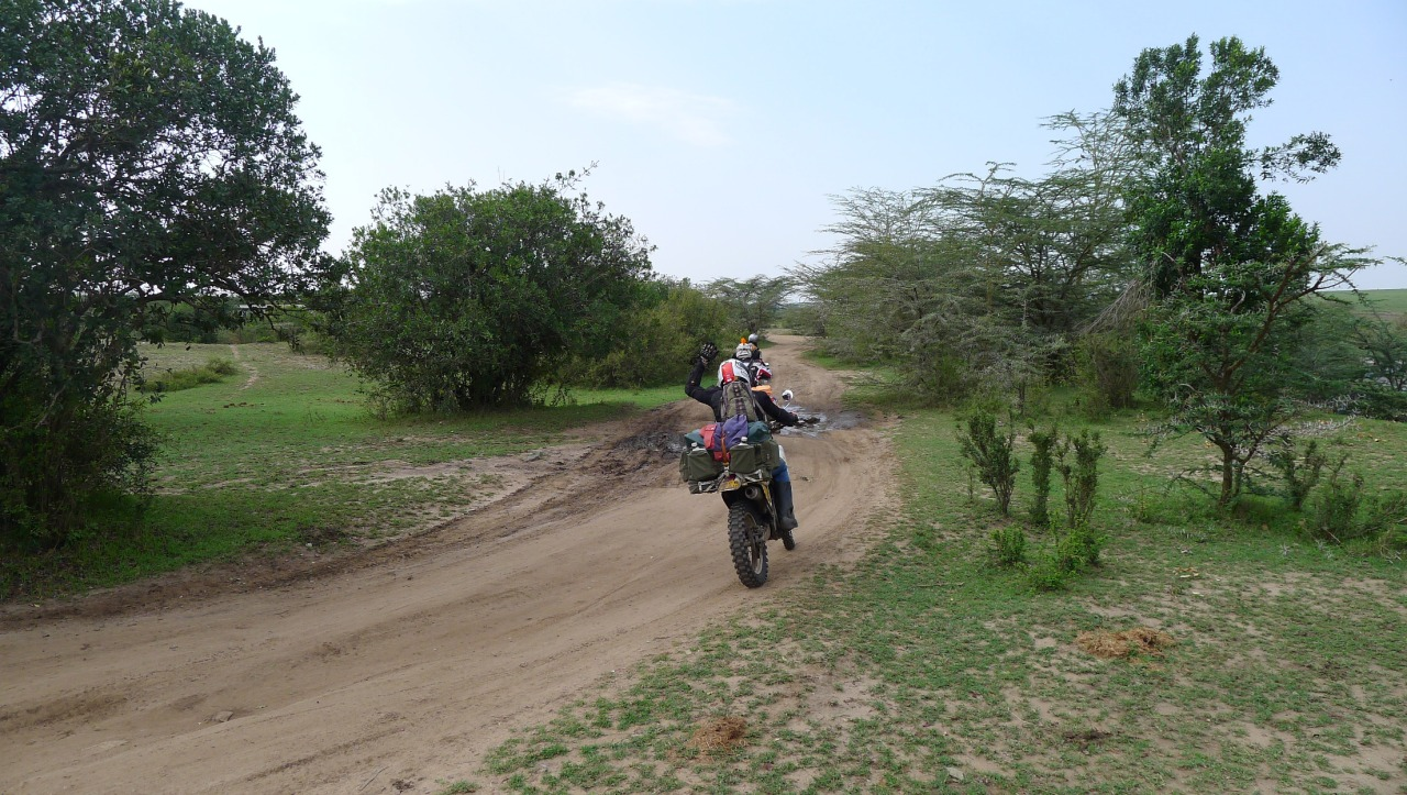 Another KTM rider in the Masai Mara