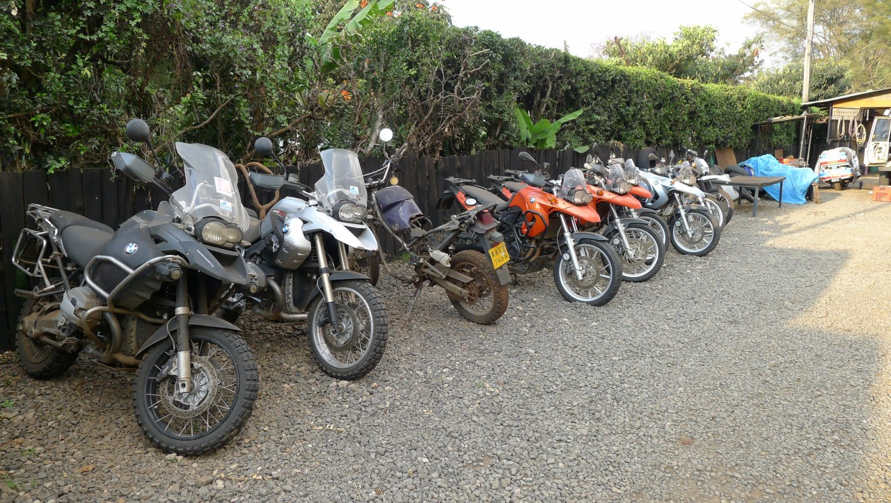 Adventure bikes at Jungle Junction