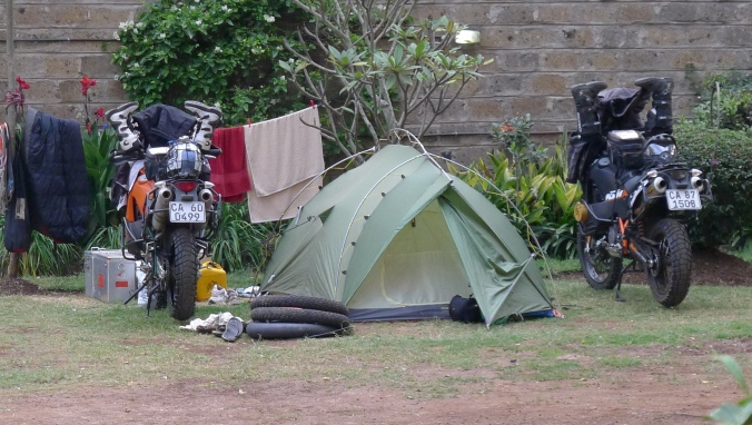 Our home at Jungle Junction for a few weeks while we sort out visas and get bikes  serviced for next leg through to Egypt