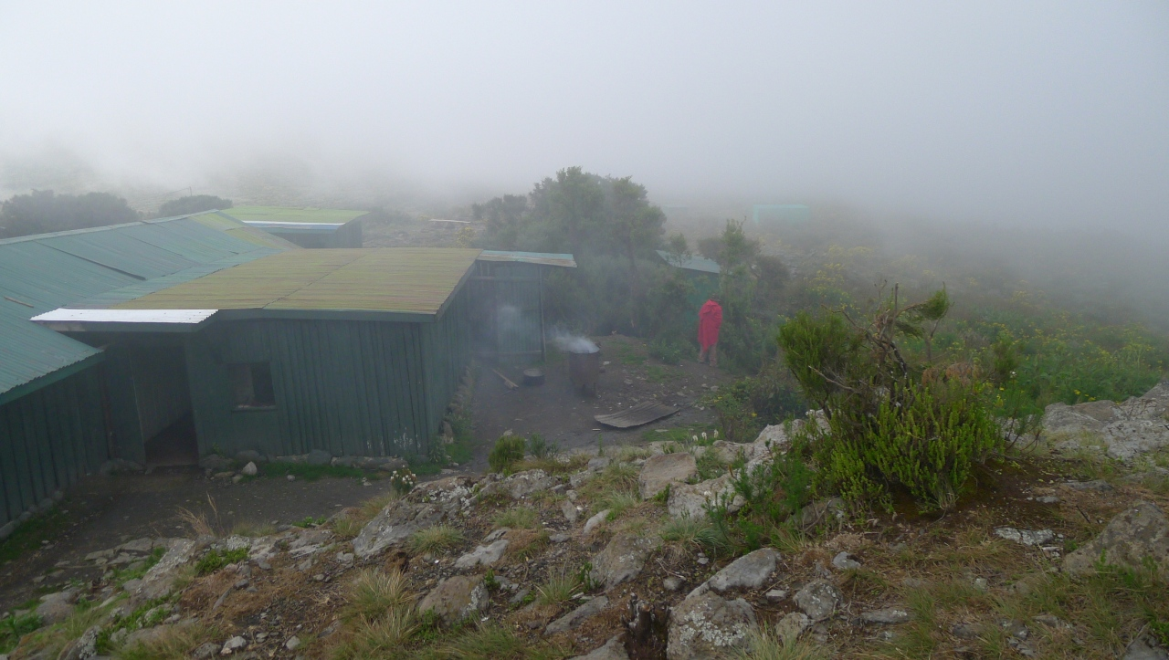 Camp 1... damp and cold and a bit bleak