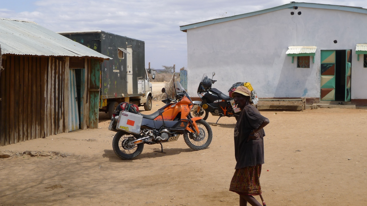 Bikes just before we set off towards Moyale