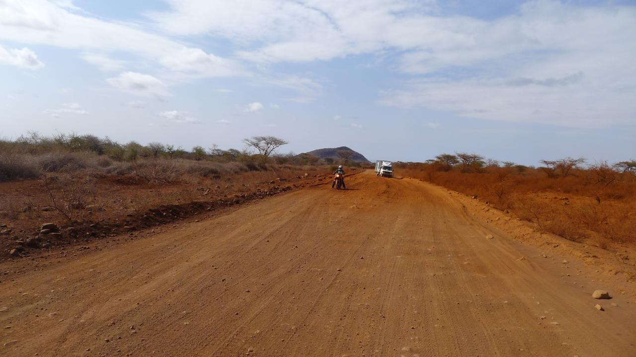 sandy bit of road