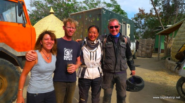 Paul and Marja who we traveled across north k Kenya with. Thanks so much for carrying our fuel and panniers and being such good friends