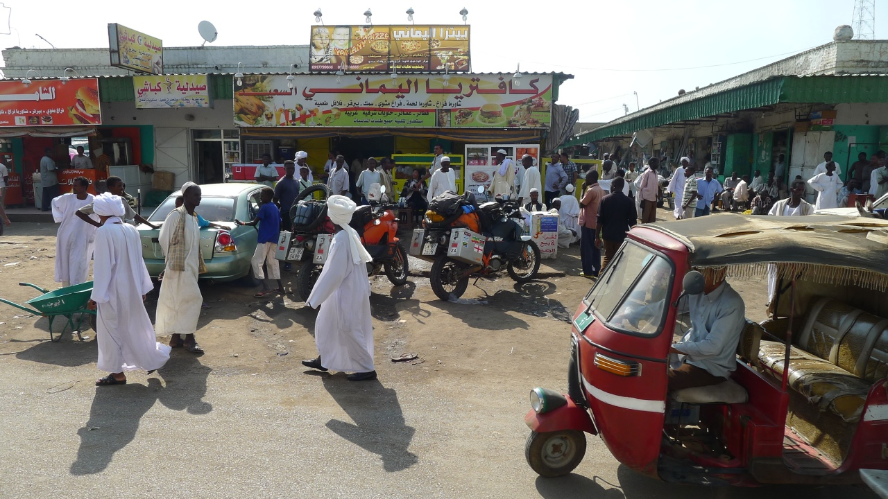 Standing out from the crowd in a Sudanese street