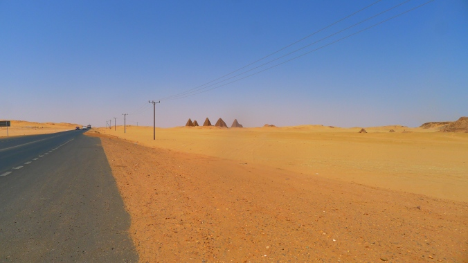 Pyramids in the distance