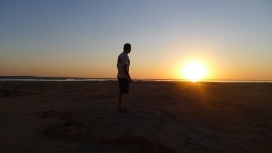Enjoying another amazing sunset in Sudan