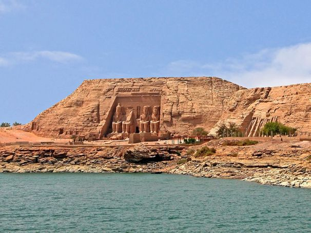 Abu Simbel Temple along the banks of the Nile