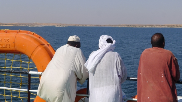 Ferry from Wadi Halfa in Sudan up the Nike to Aswan in Egypt