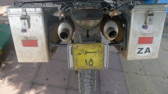Fitted with Egyptian plates..