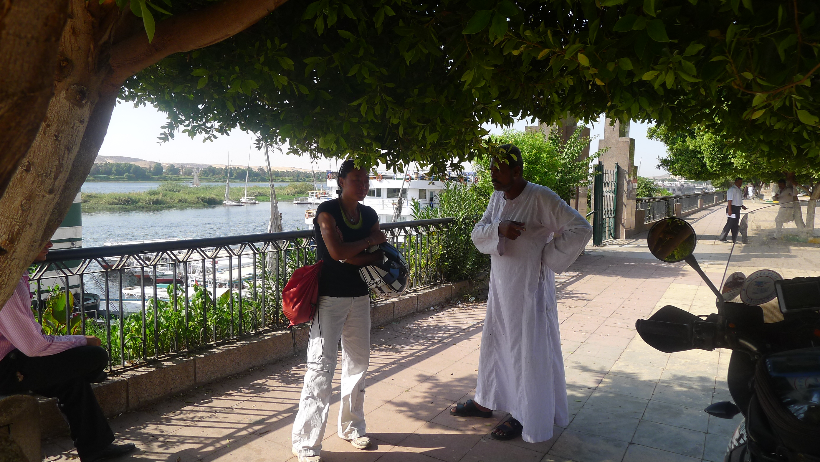 Lots of touts in Luxor ... all good natured banter, but wasting their time with us.