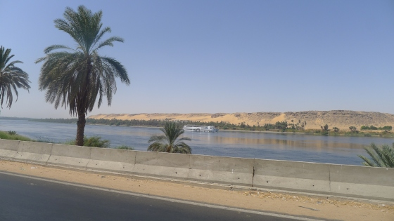Riding along by the Nile