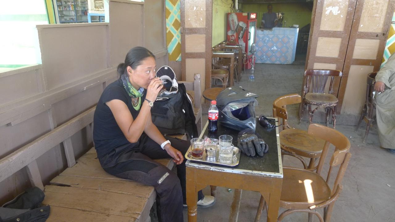 Its always tea time in Egypt. Love it.