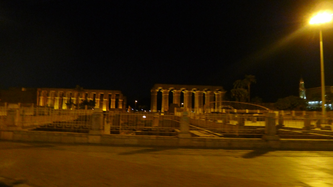 Ancient Egypt at night