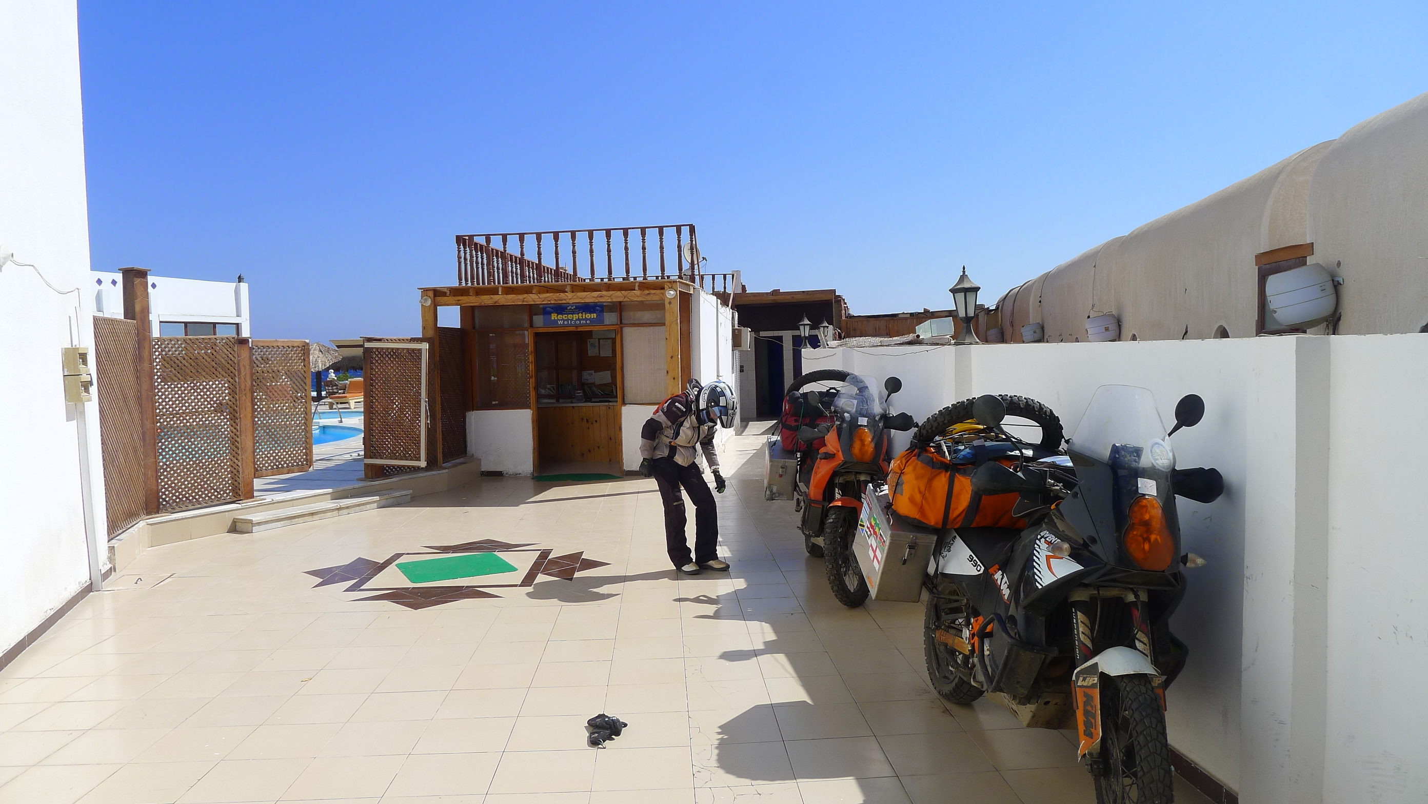 Bikes parked up in Dahab
