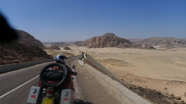 On the way to St Catherines across the Sinai desert