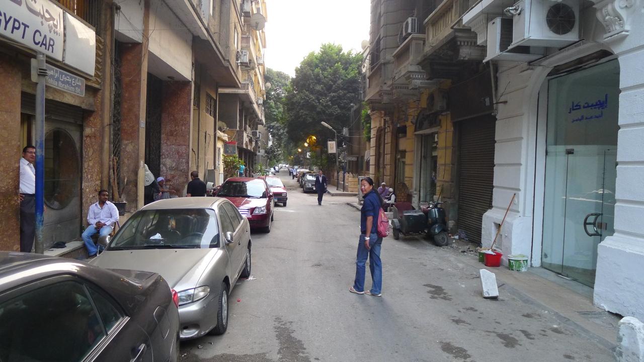 Fanny wandering around Cairo