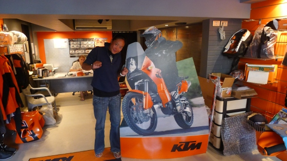KTM Cairo... no servicing though Servicing and bike maintenance is done a thousand kilometers away in Sharm El Sheikh