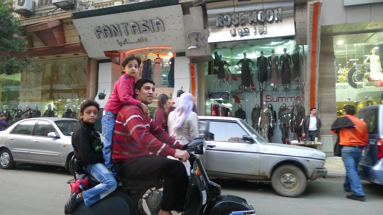 Fellow bikers in Cairo