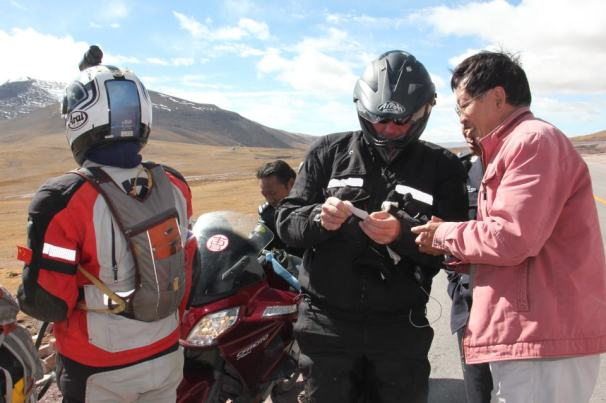 Riding in northern Tibet