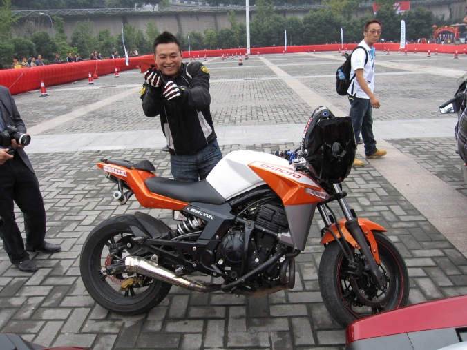CF Motos amazing stunt rider ... Hu Hai