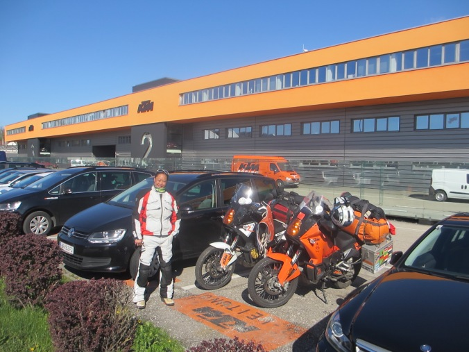 Fanny at KTM factory in Mattighofen, Austria