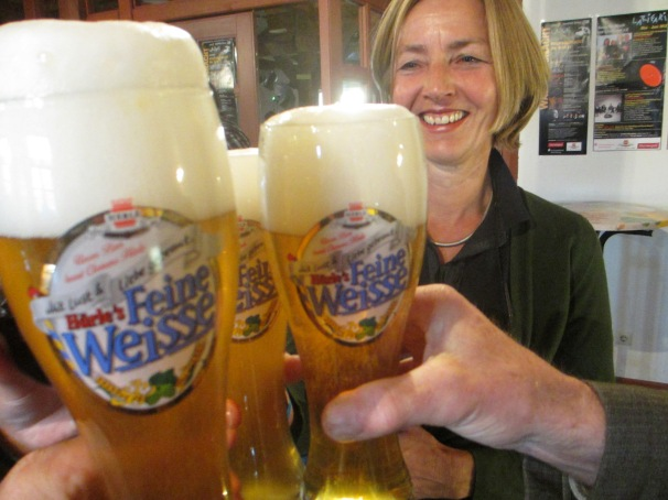 Having a Weissbier with Friedl and Winfried in Bavaria