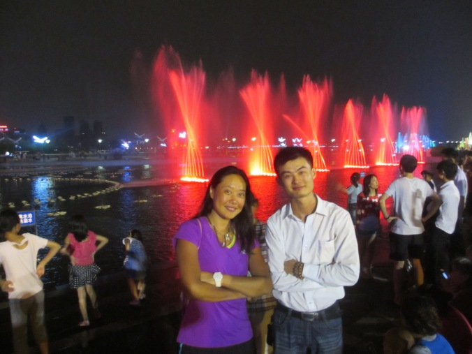 Fanny and our host Flanny in Changsha in Hunan